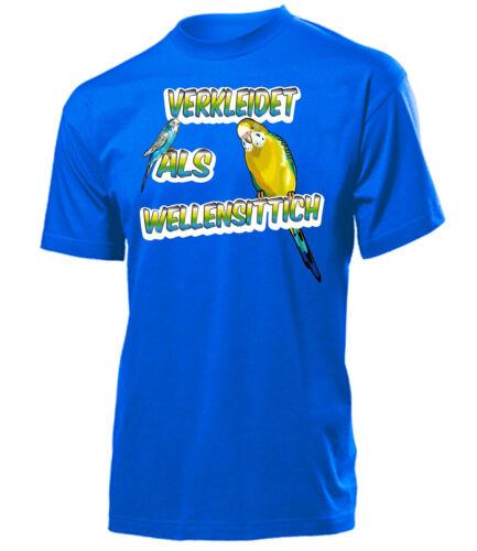 Carnaval-raído-vestido como periquito t-shirt señores S-XXL