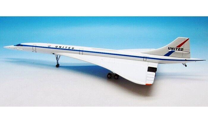 Inflight 200 ifconc 1016 1 200 United Concorde avec support-nouvelle version