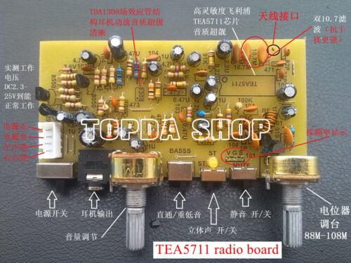 TEA5711 radio board high sensitivity FM stereo radio board