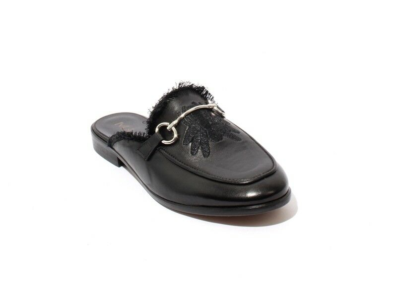Mally 6301 nero Leather Buckle Sandals Sandals Sandals Flat Mules scarpe 41   US 11 b173bf