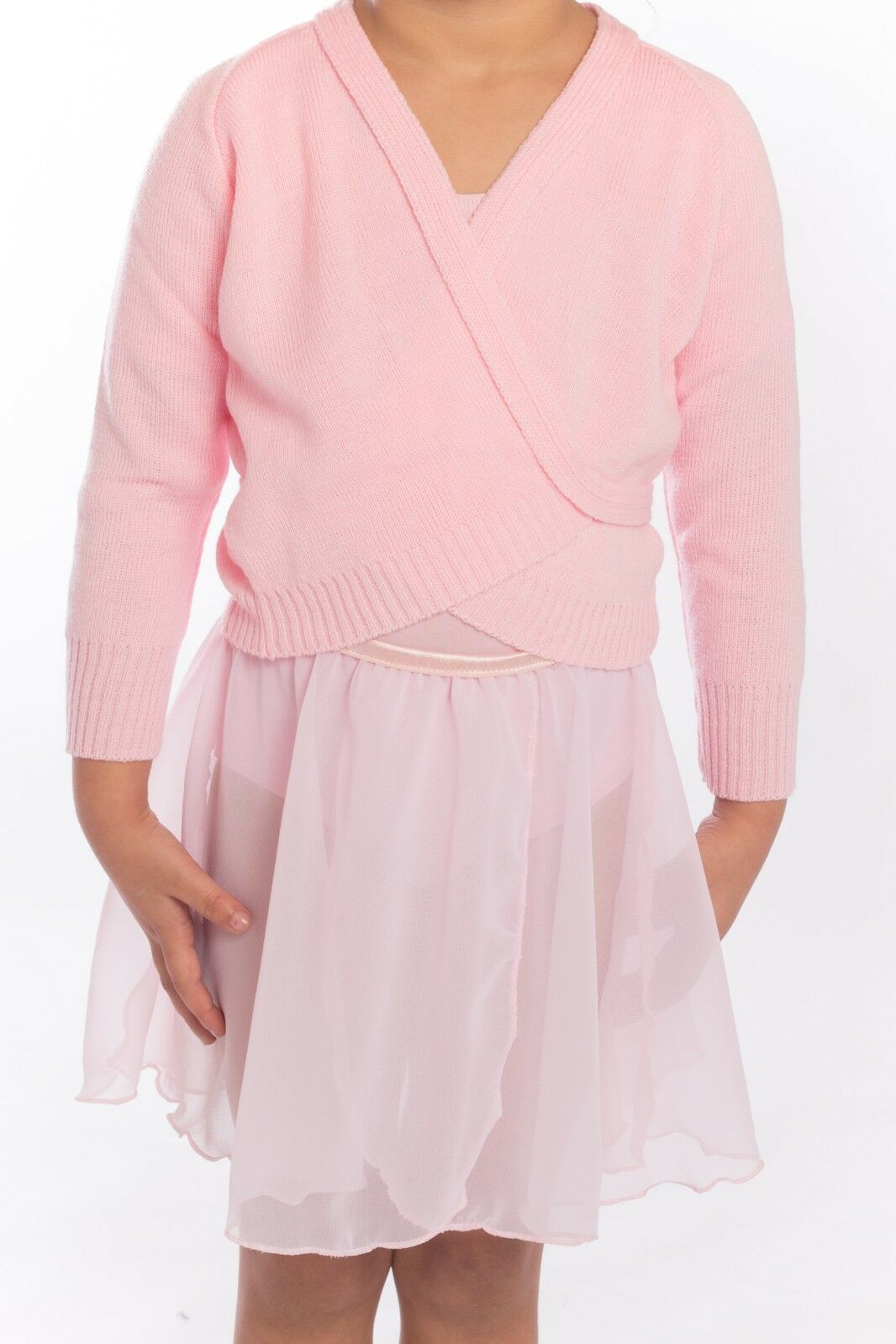 Ballet Cardigan, Wrapover mad by Roch Valley, PINK, LILAC or WHITE.
