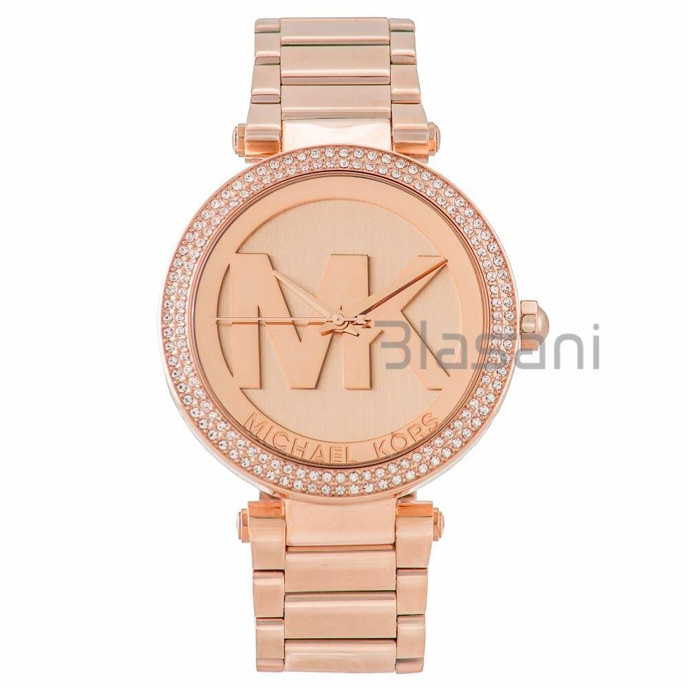 Details about Michael Kors Original MK5865 Women's Parker Rose Gold Crystal Set Watch
