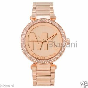 2d391e599baf Michael Kors Original MK5865 Women s Parker Rose Gold Crystal Set ...