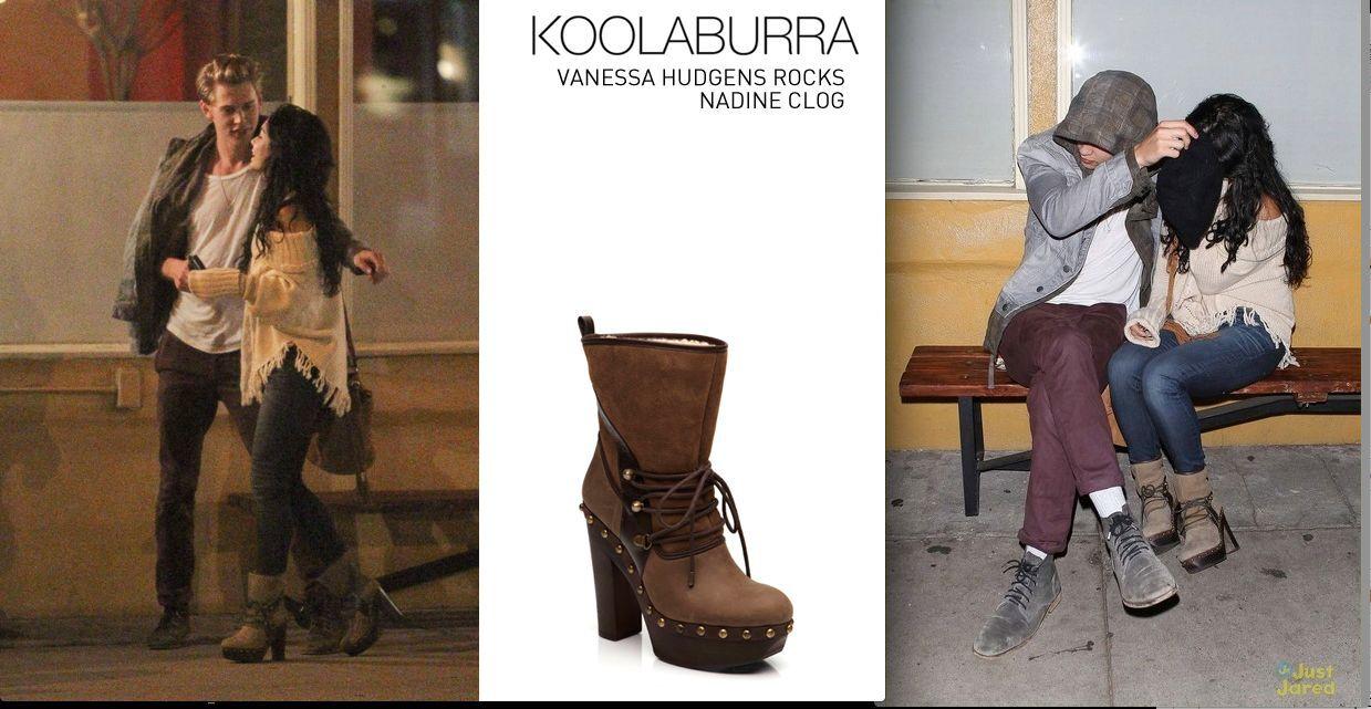 Koolaburra Nadine Lace Up Clog Stivali Boot Tan 5  340 Vanessa Hudgens