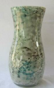 Italian Art Glass Vase Franco Italy Pastel Green Gray Color 29