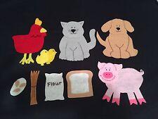 Little Red Hen Classic Children's Story Felt Flannel Board Teachers Resources