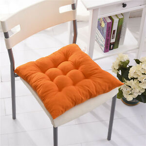 Orange dining garden patio cushion home kitchen office chair tie on seat pads ebay - Orange kitchen chair cushions ...