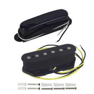 New-Black-Tele-Style-Electric-Guitar-Pickups-Neck-amp-Bridge-Pickups-Single-Coil