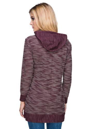Ladies Tunic Blouse Long Sleeve Warm Pullover Jumper Hoody Long Sleeve FZ103