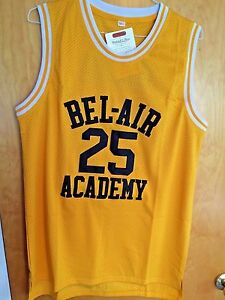 Carlton Banks  25 The Fresh Prince Of Bel-Air Basketball Jersey Sewn ... 2c839a58f