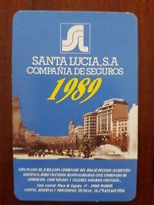 Santa Lucia Calendario.Detalles De Calendario Seguros Santa Lucia 1989 Heraclio Fournier