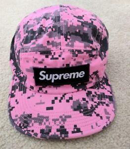 1f6ee909a6d Supreme NYCO Twill Pink Digi Glitch Camo Camp Hat Cap Box Logo Bogo ...