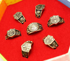 7pcs Hitman Reborn Vongola cosplay rings set + Necklace Set With Original Box