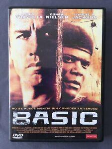 DVD-BASIC-John-Travolta-Connie-Nielsen-Samuel-Jackson-G-Ribisi-JOHN-McTIERNAN