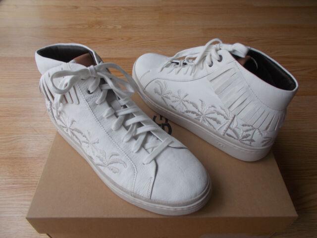 507825c467f UGG Australia Cali Mens High Top Sneakers Palm Fringe Lace Up sz 12 NEW