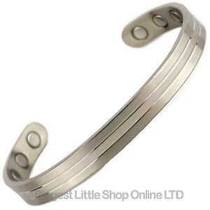 Nouveau-Style-TITANE-Bracelet-magnetique-Bracelet-2-TONS-Bio-AIMANT-Neodyme