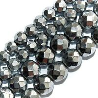 Magnetic Hematite Beads Silver Plated 4mm Round 16strands