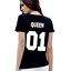 New-Couple-T-Shirt-King-01-and-Queen-01-Love-Matching-Shirts-Couple-Tee-Tops thumbnail 6