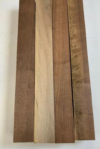 "3/"" x 3/"" x 26/""  FREE SHIP 4 Pack Set Turning Wood Black Walnut Lumber Board"