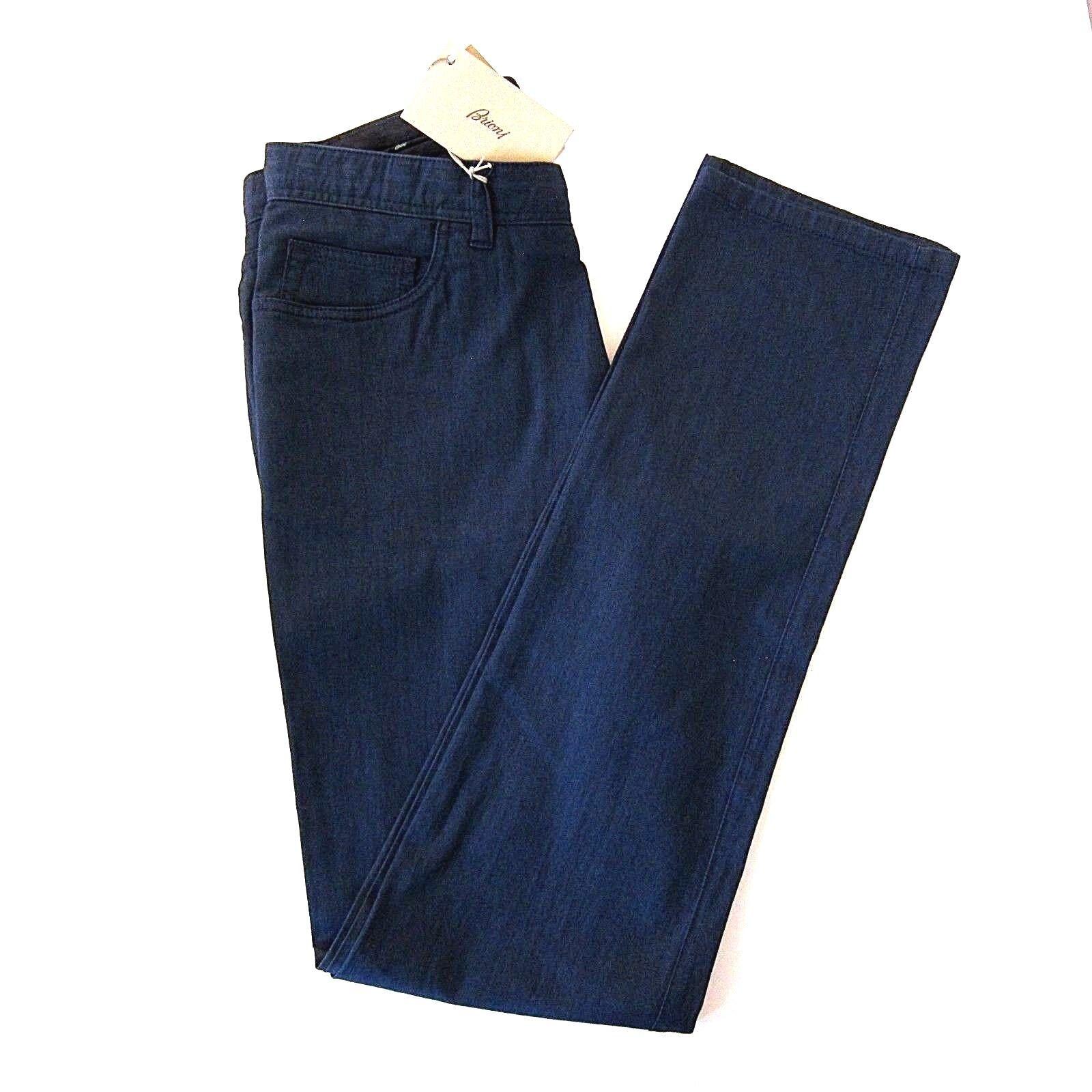 e88b9c2abffa0d J-3010114 Neu Brioni Mitternacht Blau Jeans Hose Hose Hose Größe Us 32  3fa68c
