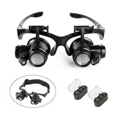 New 10X 15X 20X 25X Headband Magnifier Helmet Optivisor Watch Repair Eye Loupe