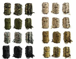 20L Neutral Adjustable Military Tactic Backpack Rucksacks Camping Bags #NP