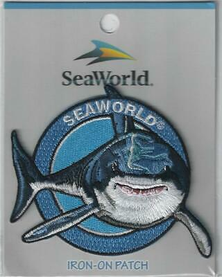 Great White Shark Vintage 80s Large Sew-On Patch