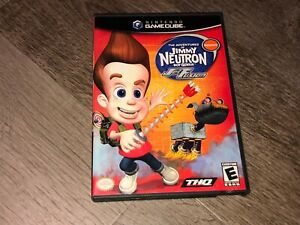 The-Adventures-of-Jimmy-Neutron-Jet-Fusion-Nintendo-Gamecube-W-Case-Authentic