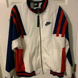 Nike-Mens-Woven-Track-Jacket-Re-Issue-Zip-Up-White-CJ4921-100-Sz-Large-NWT-125