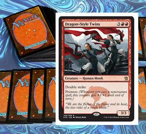 mtg-JESKAI-DECK-red-blue-white-khans-of-tarkir-Magic-the-Gathering-60-card-lot