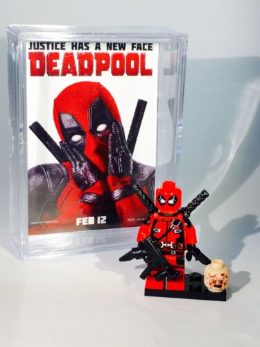 Deadpool movie poster custom MINIFIGURE w// Display Case /& stand 075b f