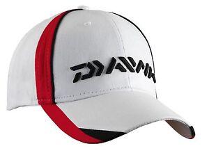 Angelsport Bekleidung Daiwa Cap Angelbekleidung Mütze Kappe Schildkappe Schildmütze weiß