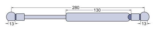 La presión del gas resorte puerta para Case IH//IHC XL 743 745 844 845 856 955 956 1055 1255 1455