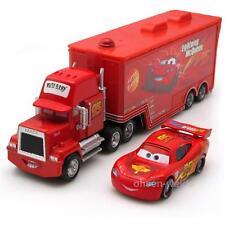 Disney Pixar Cars No.95 Mack Racer's Truck & Lightning McQueen 1:55 Toy Loose