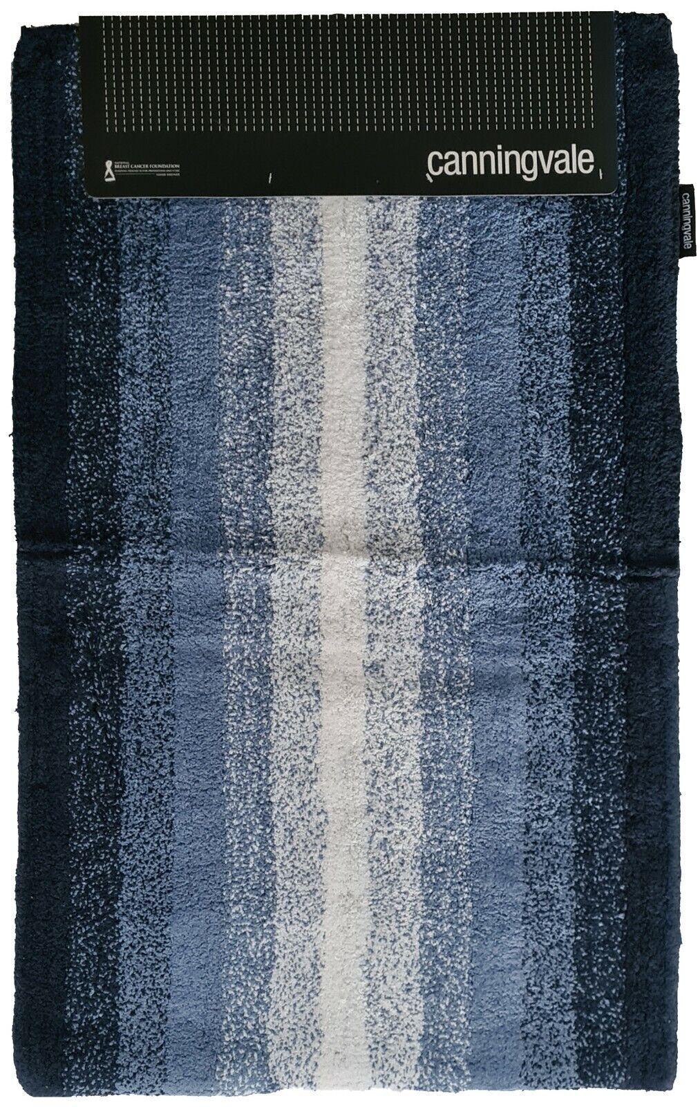 Steel Blue Ombre Decorator Bath Mat by Canningvale Large 55 x 85cm   100% Cotton