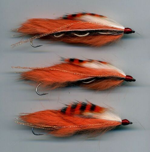 The Red Snake Fly X 3  all size 8 tied in the UK code 158 Details about  /Trout Flies