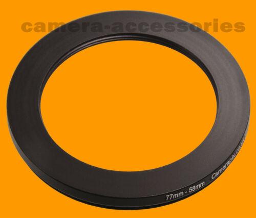 77mm a 58mm 77-58 filtro de escalonamiento Step Down Anillo Adaptador 77-58mm 77mm-58mm