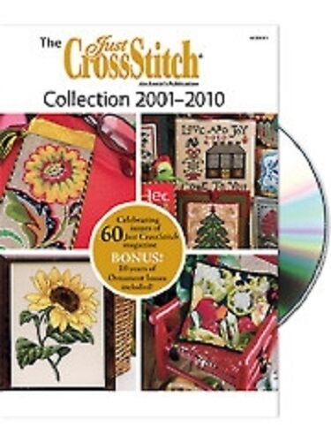 Just Cross Stitch 2001-2010 Collection DVD - 60 Issues + 10 Ornament Issues -New