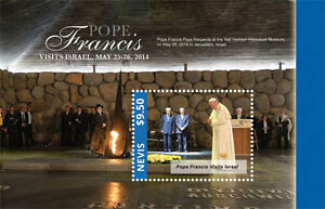 POPE-FRANCIS-034-Visits-Israel-034-Collection-Nevis-Stamps-1-sheet-and-S-S