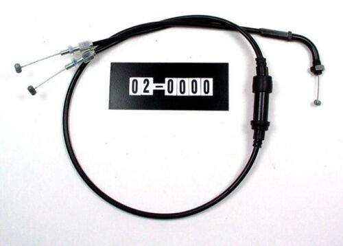 02-0000 Motion Pro Black Vinyl 2-into-1 Pull Throttle Cable