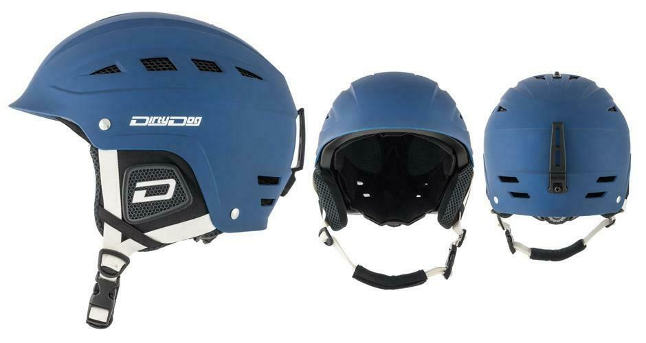 DIRTY DOG MENS UFO Ski Vented Adjustable Snow Helmet in Navy bluee M L XL