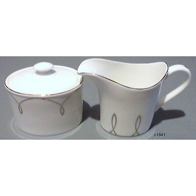 Waterford Lismore Essance Sugar Bowl With Lid And Creamer Set - New With Tags