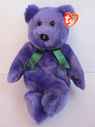 Ty-Beanie Buddy - Employee Bear PRISTINE Brand New in Mint Condition w/Mint tags