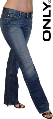 Only Jeans Damen Hose Auto Straight Stillvoll Super Figur Geniale Waschung
