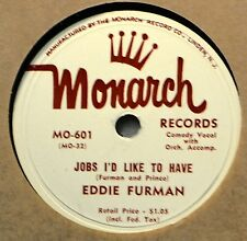 Eddie Furman Jobs I'd Like to Have 78 Monarch 601 Comedy Novelty Don't Believe