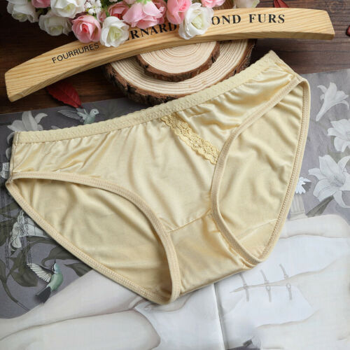 Soft Women Girls Silky Comfort Ice Silk Without trace Underwear Panties Lace New