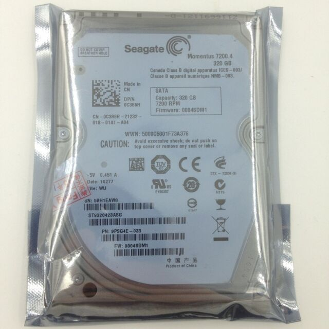 """Seagate Mometus 320 GB ST9320423ASG 2.5"""" SATA 7200rpm Hard Drive For Laptop HDD"""