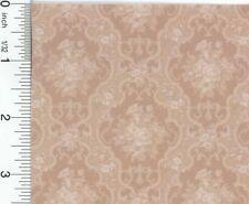 1//12 Scale Elegant English Rose Dollhouse Wallpaper by Mini Graphics #MG214D2