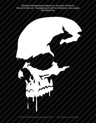 4x 5 High 2 ZOMBIE PUNISHER Vinyl Vehicle Decals Walking Skull Dead Halloween Prop Car Stickers 2 Decals