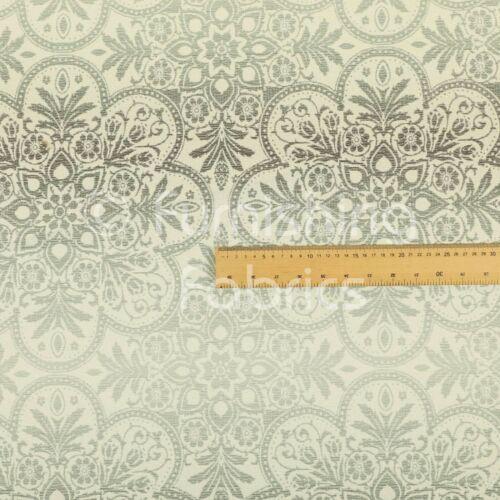 Patrón de flor de gran colorido Moderno Gris Plata Chenille Tela de tapicería